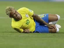 Neymar wurde zum WM-Auftakt einige Male rüde angegangen