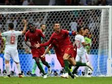 Portugals Star Cristiano Ronaldo jubelt nach seinem Treffer zum 3:3