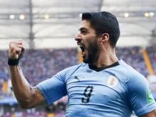 Selbstbewusst nach dem Einzug ins Achtelfinale: Uruguays Luis Suárez