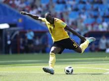 Belgiens Romelu Lukaku gelang bei der WM in zwei Spielen jeweils ein Doppelpack