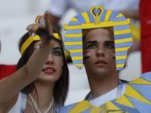 Hatten in Russland nicht viel Grund zum Jubeln: Fans von Ägypten