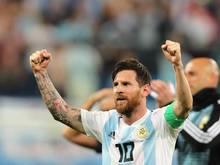 Lionel Messi durfte sich nach dem aufreibenden Spiel gegen Nigeria erholen