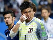 Eiji Kawashima war nach der Niederlage gegen Belgien in Tränen aufgelöst