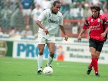 Martin Dahlin (l.) in der Saison 1995/1996 im Gladbach-Trikot