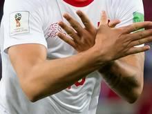 Xhaka formte nach seinem Treffer mit den Händen den doppelköpfigen Adler und provozierte damit die Serben