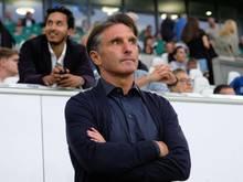 Ist verärgert über Kaylen Hinds: VfL-Coach Bruno Labbadia