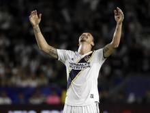 Zlatan Ibrahimovic von denLA Galaxy jubelt über das 500. Tor seiner Karriere