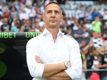 Kritisiert die Kritik an den Trainern: Eintracht-Trainer Adi Hütter. Foto: Arne Dedert