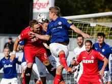 Die Kieler Störche retteten noch einen Punkt gegen den 1. FC Köln