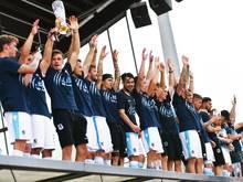 Die Spiele von 1860 München feiern den Aufstieg in die 3. Liga