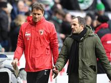 FCA-Co-Trainer Jens Lehmann (l.) und Chef-Coach Manuel Baum
