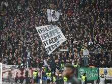 Die Frankfurter Fans vor dem Spiel gegen Schachtar Donezk