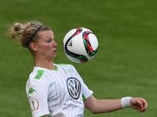 Steuerte drei Treffer zum Wolfsburger Sieg gegen Gladbach bei: Nationalspielerin Alexandra Popp