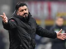 Noch steht Trainer Gennaro Gattuso beim AC Mailand unter Vertrag