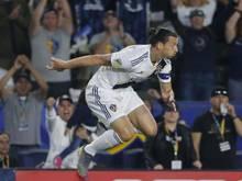 Feiert seinen Hattrick im Spiel gegen den FC Los Angeles: Zlatan Ibrahimovic