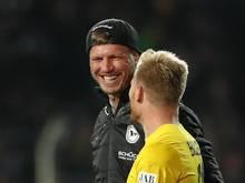 Andreas Voglsammer (r) und Fabian Klos bilden ein treffsicheres Sturmduo