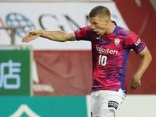 Feierte mit Vissel Kobe einen weiteren Sieg: Lukas Podolski