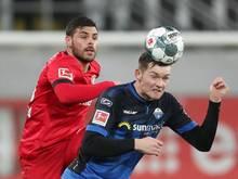 Luca Kilian (r) wird dem SC Paderborn vorerst fehlen