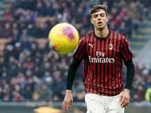 Daniel Maldini feierte sein Debüt beim Spiel des AC Milan