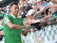 Neu-Werderaner Davie Selke darf in der Rückrunde gegen Hertha nicht auflaufen