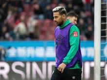 Mit Werder mitten im Abstiegskampf: Claudio Pizarro