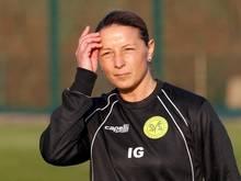 Inka Grings ist Trainerin beim Männer-Oberligisten SV Straelen