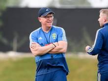 Janne Andersson verlängerte seinen Vertrag als schwedischer Fußball-Nationaltrainer. Foto: Carl Sandin/Bildbyran via ZUMA Press/dpa