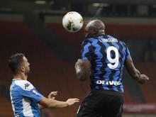 Romelu Lukaku liegt mit Inter gut im Rennen um Platz zwei