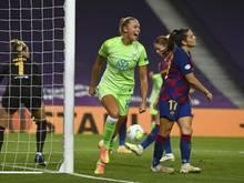 Fridolina Rolfö erzielte das Goldene Tor für die Wolfsburgerinnen