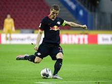 Leipzigs Kapitän Marcel Sabitzer hat sich am Oberschenkel verletzt