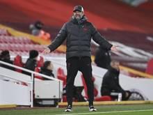 Liverpools Coach Jürgen Klopp ärgert sich über die Spielansetzungen. Foto: Laurence Griffiths/Pool Getty/AP/dpa