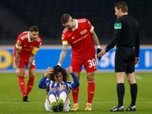 Wurde nach seiner Roten Karte im Berliner Derby für drei Spiele gesperrt: Union-Profi Robert Andrich (M)