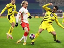Wird vom BVB ausgebremst: RB Leipzigs Emil Forsberg