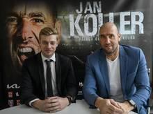 Regisseur Petr Vetrovsky (l.) verfilmt das Leben von Jan Koller