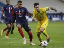Weltmeister Kylian Mbappé hatte mit Frankreich gegen die Ukraine das Nachsehen