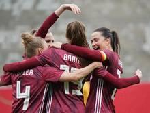 Die DFB-Frauen gewannen gegen Australien