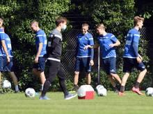 Spieler des Karlsruher SC beim Training