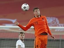 Wout Weghorst beim Testspiel der Niederlande gegen Schottland