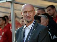 Cheftrainer der ungarischen Nationalmannschaft: Marco Rossi. Foto: Mikko Stig/Lehtikuva/dpa