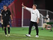 Trainer Stefan Kuntz trifft mit seinem Team im nächsten Spiel auf die Mannschaft der Elfenbeinküste