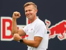 Leipzigs Trainer Jesse Marsch fordert von seiner Mannschaft Konzentration und Einsatz ein