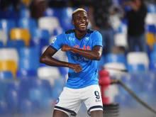 Victor Osimhen sorgte mit seinem Treffer für den 1:0-Sieg der SSCNeapel gegen den FCTurin