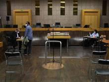 Der Gerichtssaal vor dem Prozess gegen Karim Benzema