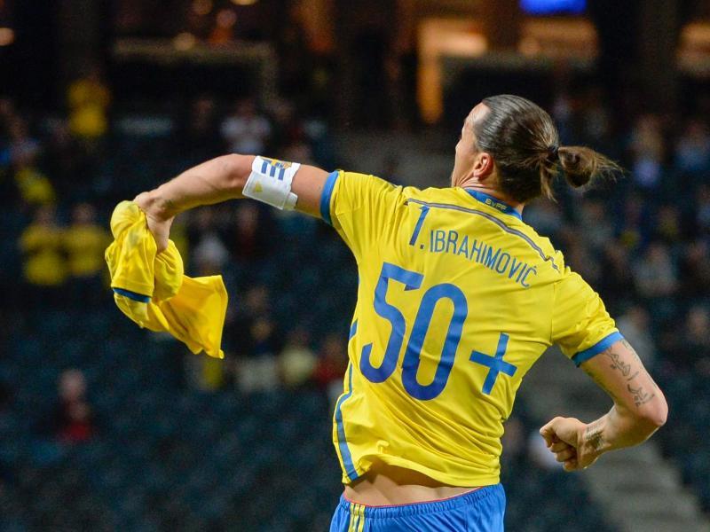 Zlatan Ibrahimovic feierte seinen Jubiläums-Treffer mit einem ganz besonderen Trikot