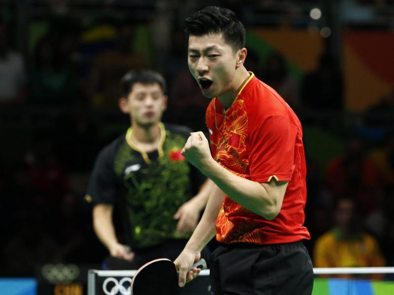 Ma Long besiegte imFinale seinen Landsmann Zhang Jike klar mit 4:0-Sätzen. Foto: Larry W. Smith