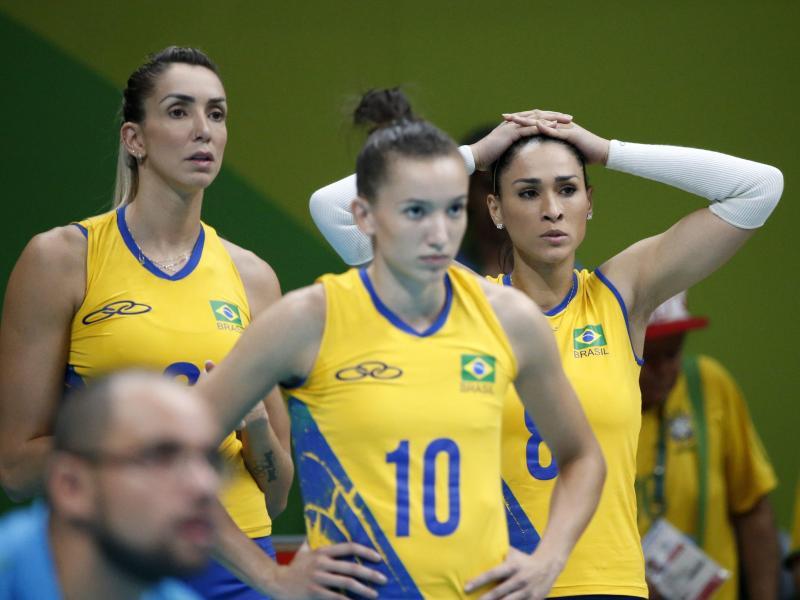 Lange Gesichter bei den Volleyball-Cracks Brasiliens