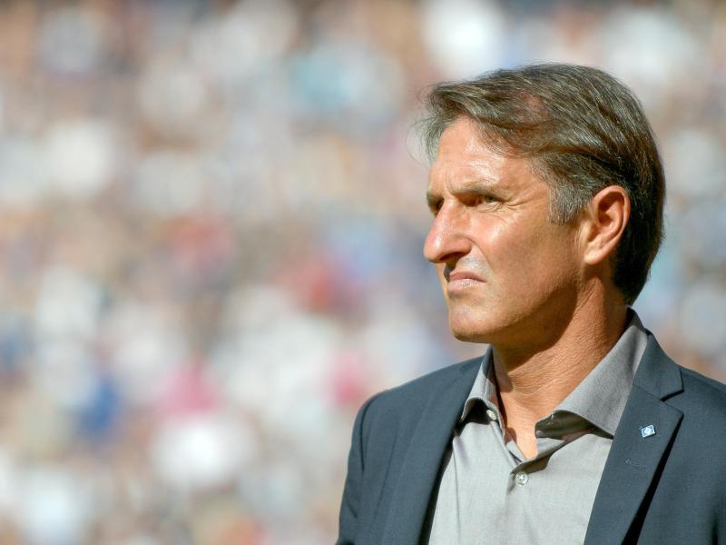 HSV-Coach Bruno Labbadia war nach der Niederlage gegen Leipzig dünnhäutig.