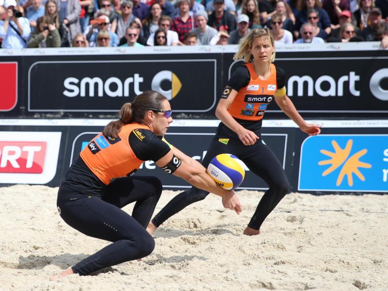 Kira Walkenhorst und Laura Ludwig stehen beim Welttour-Turnier in Rio im Achtelfinale