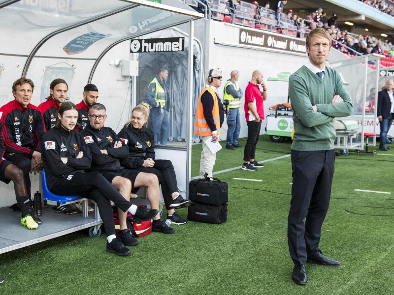 Graham Potter (r.) und sein Team empfangen Hertha BSC