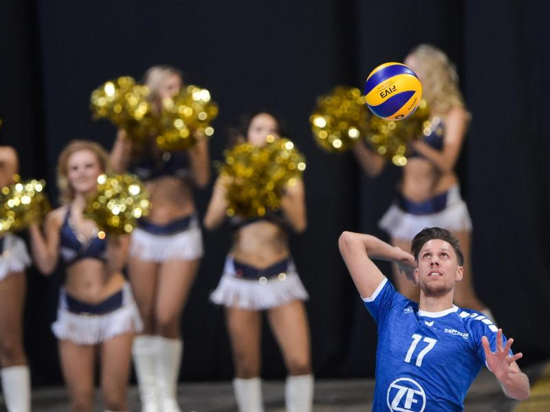 Friedrichshafens David Sossenheimer war von den BR Volleys nicht zu stoppen